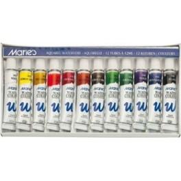 Marie's Aquarellfarben Set 12 Tuben