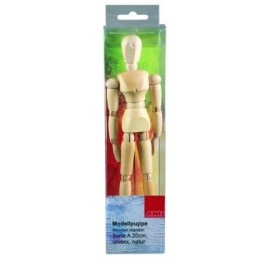 Ledenpop Serie A 30cm vrouw naturel