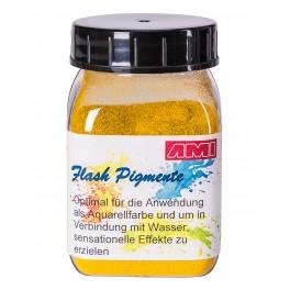 Flash pigment geel