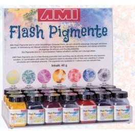Flash pigmenten display
