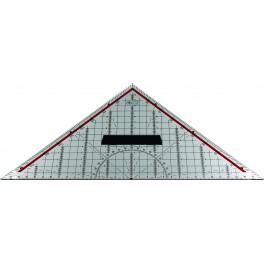 Geo-driehoek, acryl 32,5 cm, met afneembaar handvat
