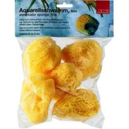 Aquarelspons, fijn, Ø 8cm