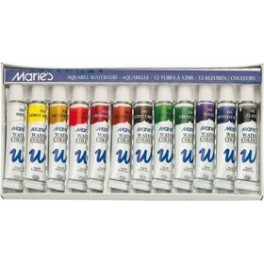 Marie's aquarelle Set 12 Tubes, 12ml