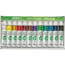 Marie's Gouache Set 12 Tubes, 12ml