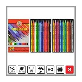 Progresso Coloured Pencils Set 24 colours