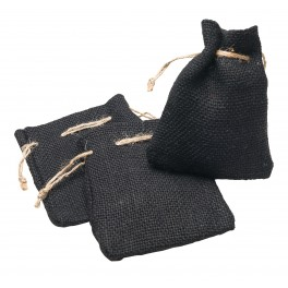 Jute Bags black Set 3 pcs.