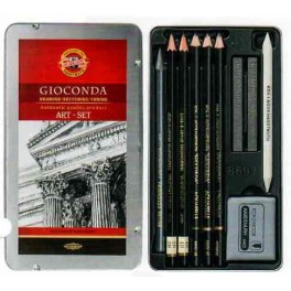 Gioconda Art Set 10 pcs., metal case