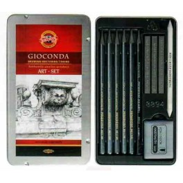 Gioconda Art Set 11 pcs., metal case