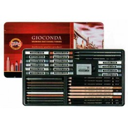 Gioconda Artist Set 39 pcs., metal case
