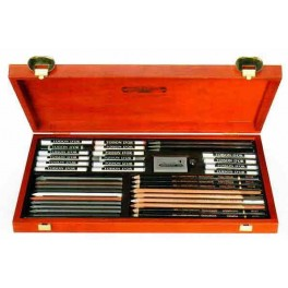 Gioconda Artist Set 39 pcs., wooden case