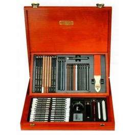 Gioconda Artist Set 53 pcs., wooden case