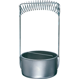 Penselen spoelbakje Ø 10,0cm, aluminium