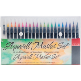 Aquarel brush pen set 20+1