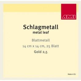 GOLD 2,5. 14x14cm